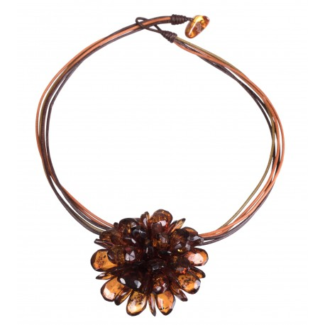 Amber necklace-brooch