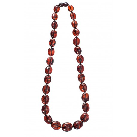 Dark cognac color necklace
