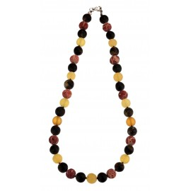 Amber and coral necklace