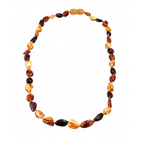 Colorful amber necklace