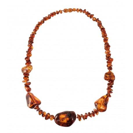 Cognac amber necklace