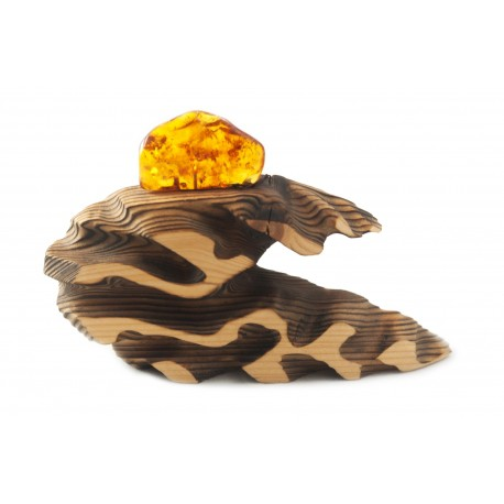 "Wood-amber composition ""Wave"""