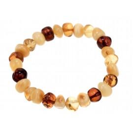 Bracelet of irregularly-shaped amber pieces