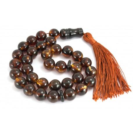 Muslim amber rosary