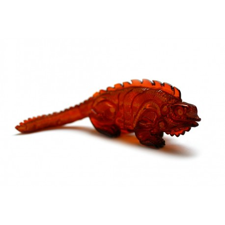 "Cherry-colored amber figurine ""Iguana"""