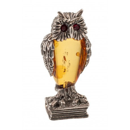 "Silver-amber figurine ""Owl"""