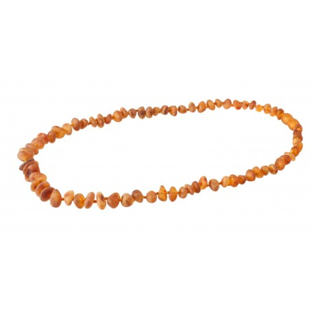 Honey-colored amber beads