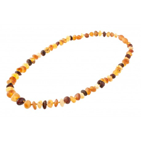 Variegated amber beads