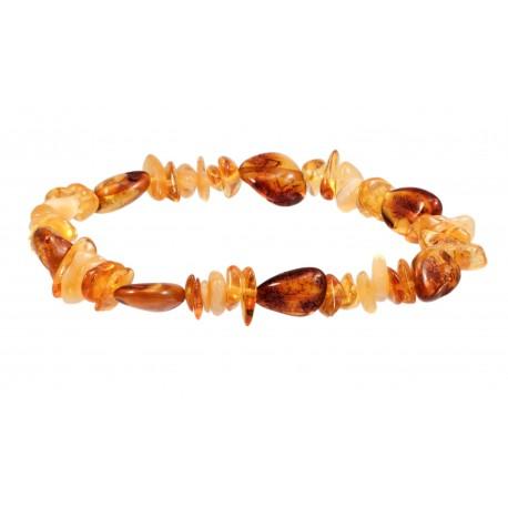 Stylized amber bracelet