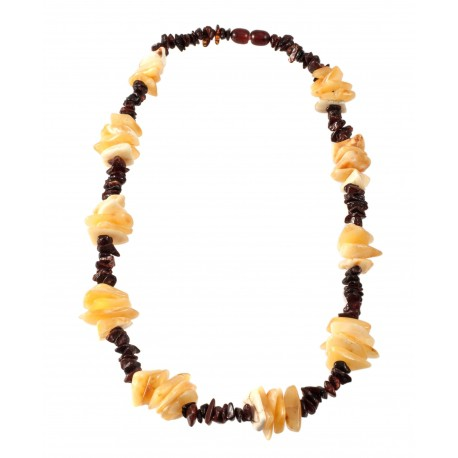 Stylized amber necklace.