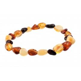 Variegated amber bracelet