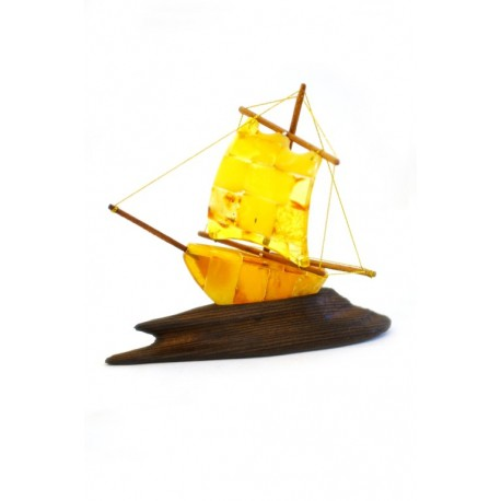 Yellow amber ship
