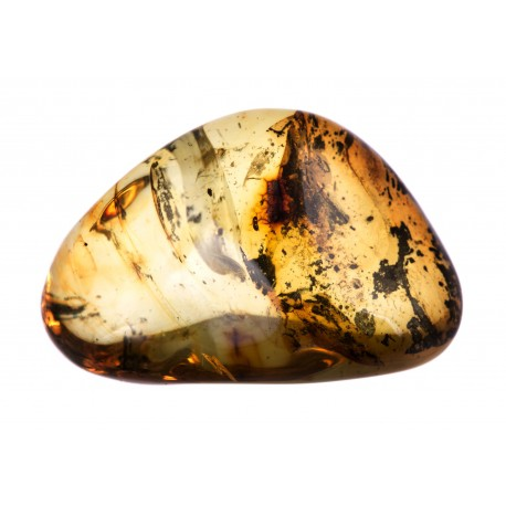 Transparent yellow amber