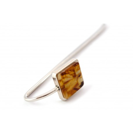 Bookmark decorated with amber