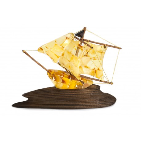 Yellow amber ship