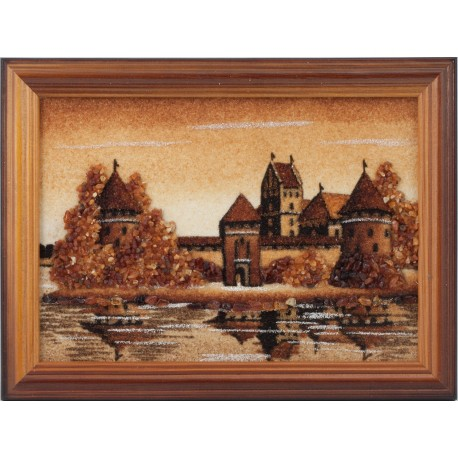 "Painting with amber ""Kaunas Castle"""