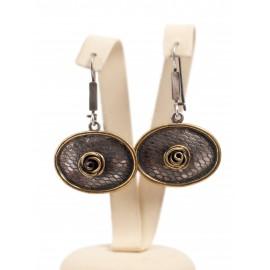 "Brass earrings ""Rose"""