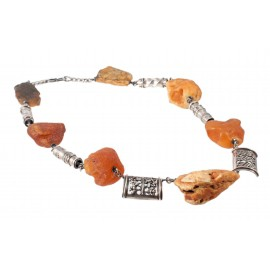 Silver-amber necklace