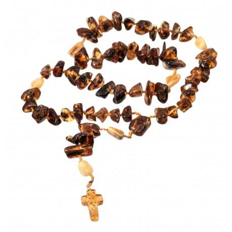Christian Baltic amber rosary