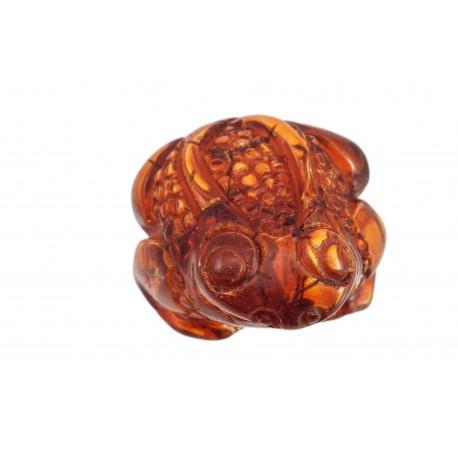 """Cognac amber figurine """"Frog"""""""