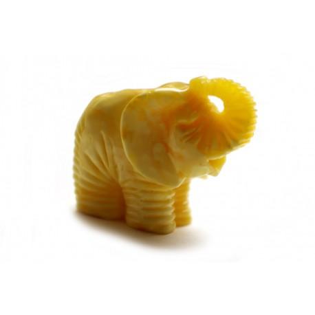 "White amber figurine ""Elephant"""