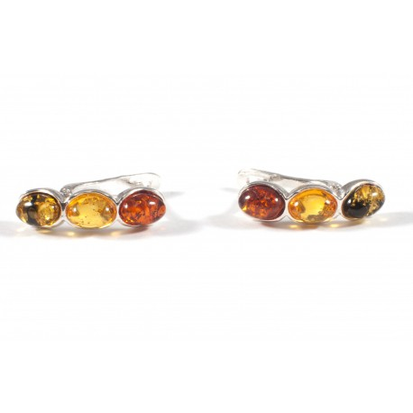 "Amber-silver earrings ""Colourful Lollipops"""