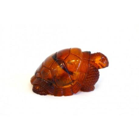 """Amber figurine """"Travelling Turtle"""""""