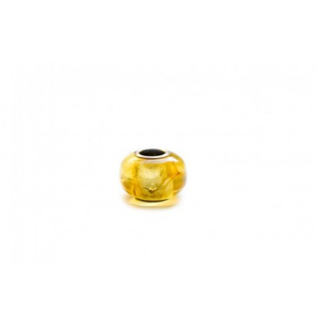 "Amber-silver bead ""Honey"""