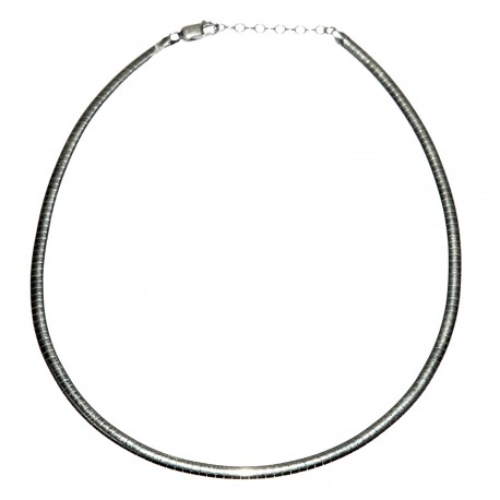 Silver necklace with an adjustable clasp