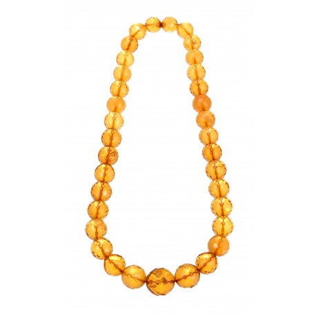 Clear amber necklace