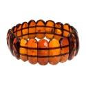 Diamond-polished, cognac amber bracelet