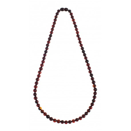 Clear cherry-amber necklace
