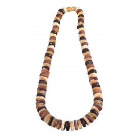 Beads of natural amber