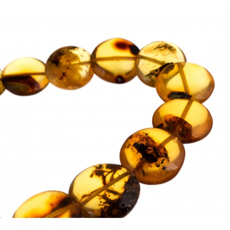 "Natural amber necklace ""Smiltynė"""