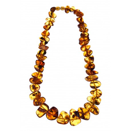 """Natural amber necklace """"Honeycomb"""""""