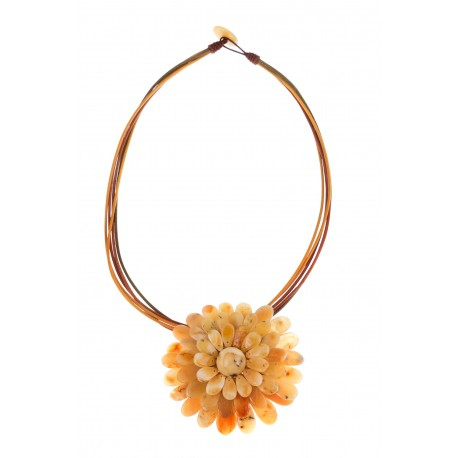 """Amber necklace-brooch """"The Sun"""""""