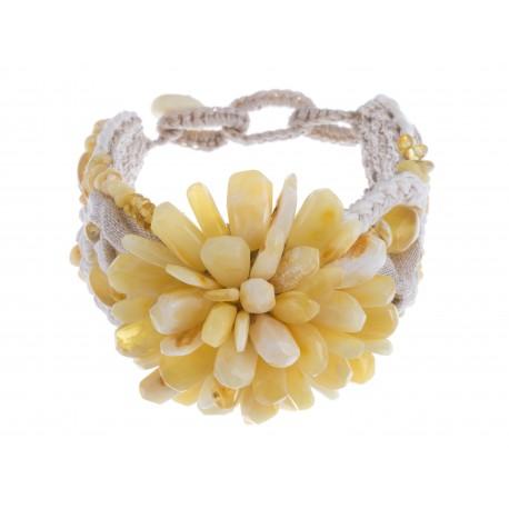 "A bracelet "" A White Flower"""