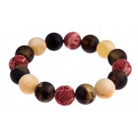 Multicoloured amber bracelet