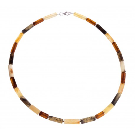 """Amber necklace """"Five Continents"""""""