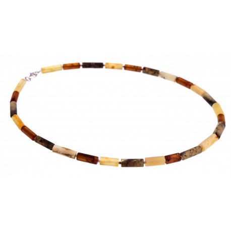 "Amber necklace ""Five Continents"""