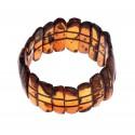 "Lush cognac amber bracelet ""The Infinity"""