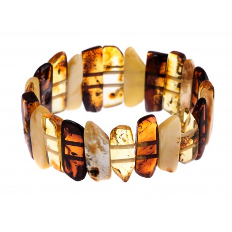 "Multicoloured amber bracelet ""Pandora"""