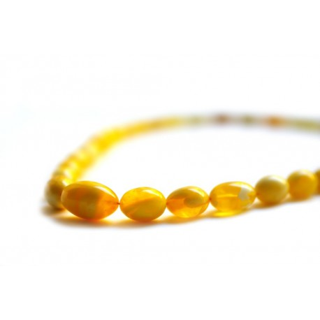 Amber beads of rich linden honey hue