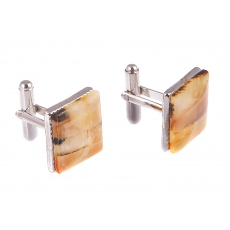"Square-form amber cufflinks "" The Renaissance"""