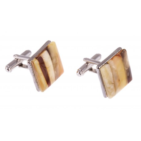 """Square-form amber cufflinks """"The Authority"""""""