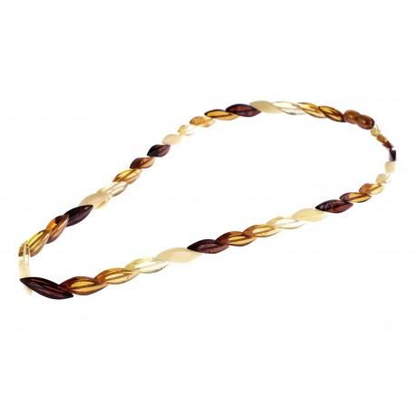 "Multicoloured amber necklace ""Amber Rainbow"""