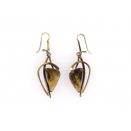 "Brass earrings ""The Secret of Charm"""