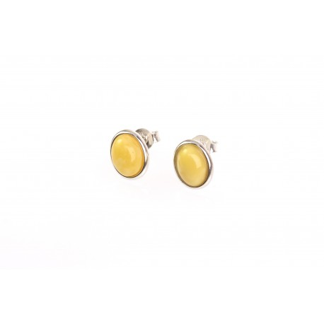 """Silver earrings with amber """"Yellow Drops"""""""