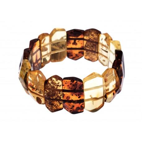 """Multicoloured amber bracelet """"Summer's Refreshment"""""""