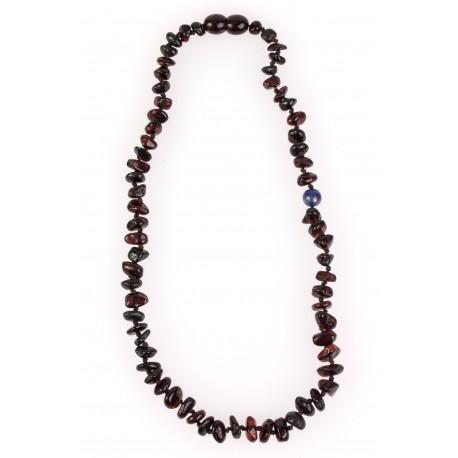 "Children amber beads with lapis lazuli stone ""Energy"""